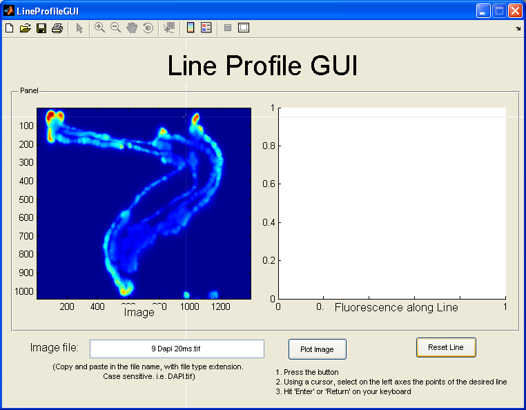 Drawing Smooth Lines Matlab : Fluorescence quantification